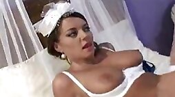 Bride fucked by two guys on her wedding day