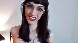 Sexy glasses trans big penis pulling - sexcamts.com